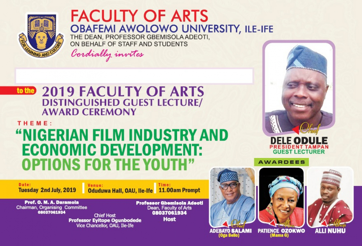 Nigerian Film Industry and Economic Development: Option for the Youth