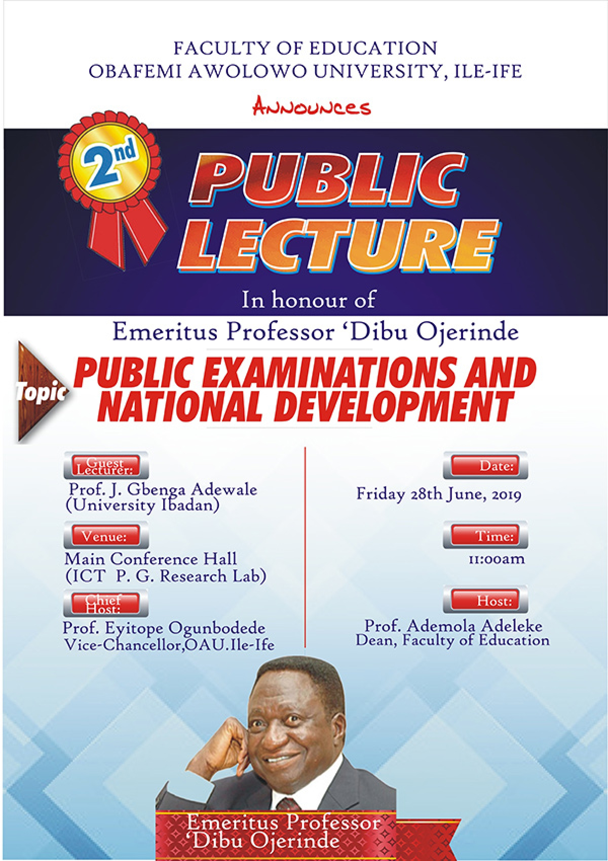 Public Lecture: Public Examinations and National Development