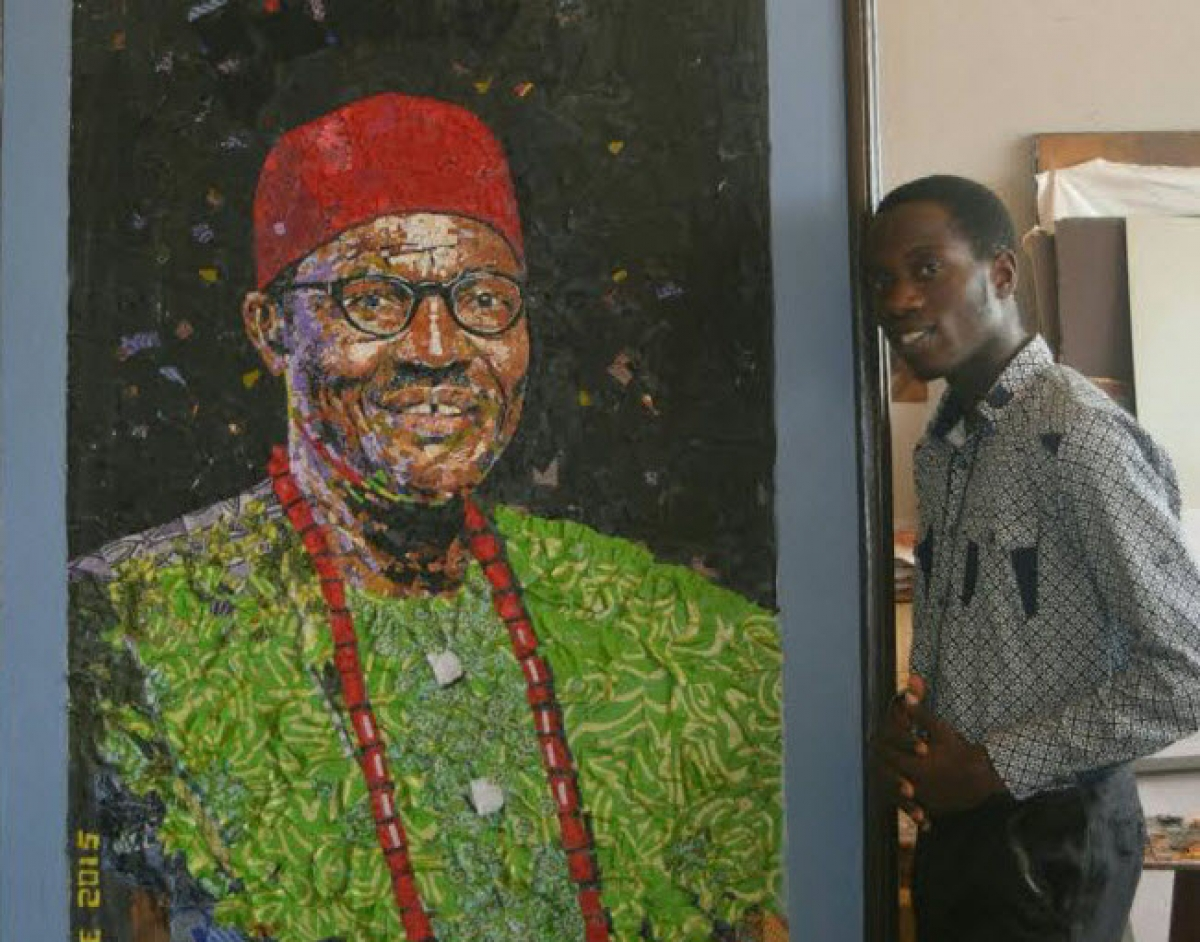 The Emperor's New Clothes: An Unusual Portrait Of Buhari By OAU Graduating Student, Ponmile Pelumi
