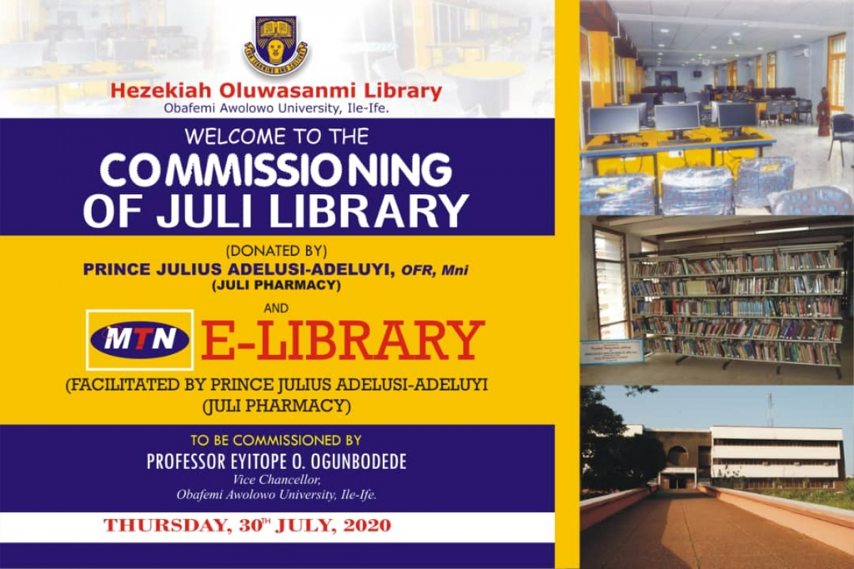 Commissioning of the Juli Library Donated by Prince Julius Adelusi-Adeluyi