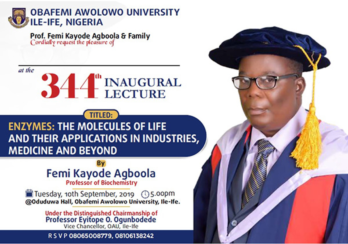 344th Inaugural Lecture: Enzymes - The Molecules of Life and their Applications in Industries, Medicine and Beyond