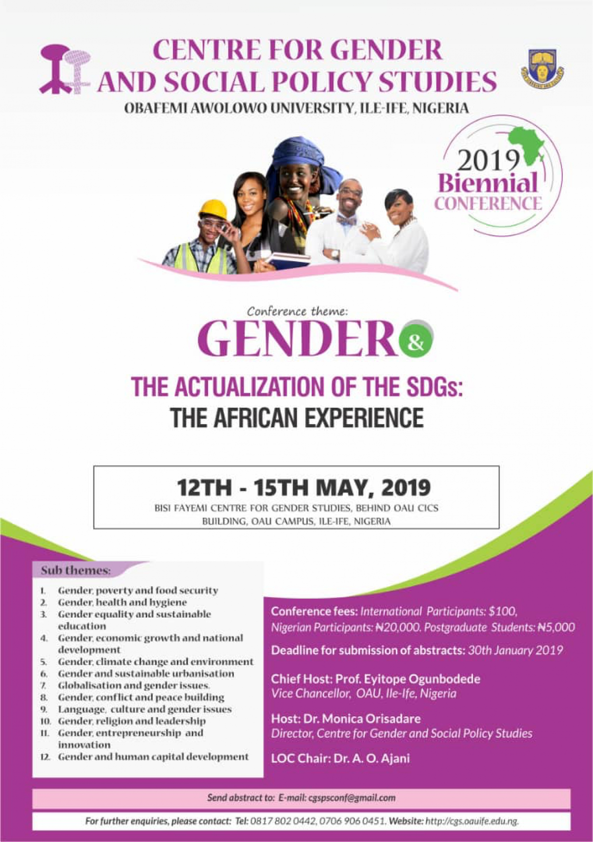 Call for Papers - Gender and the Actualization of the SDGs: The African Experience.
