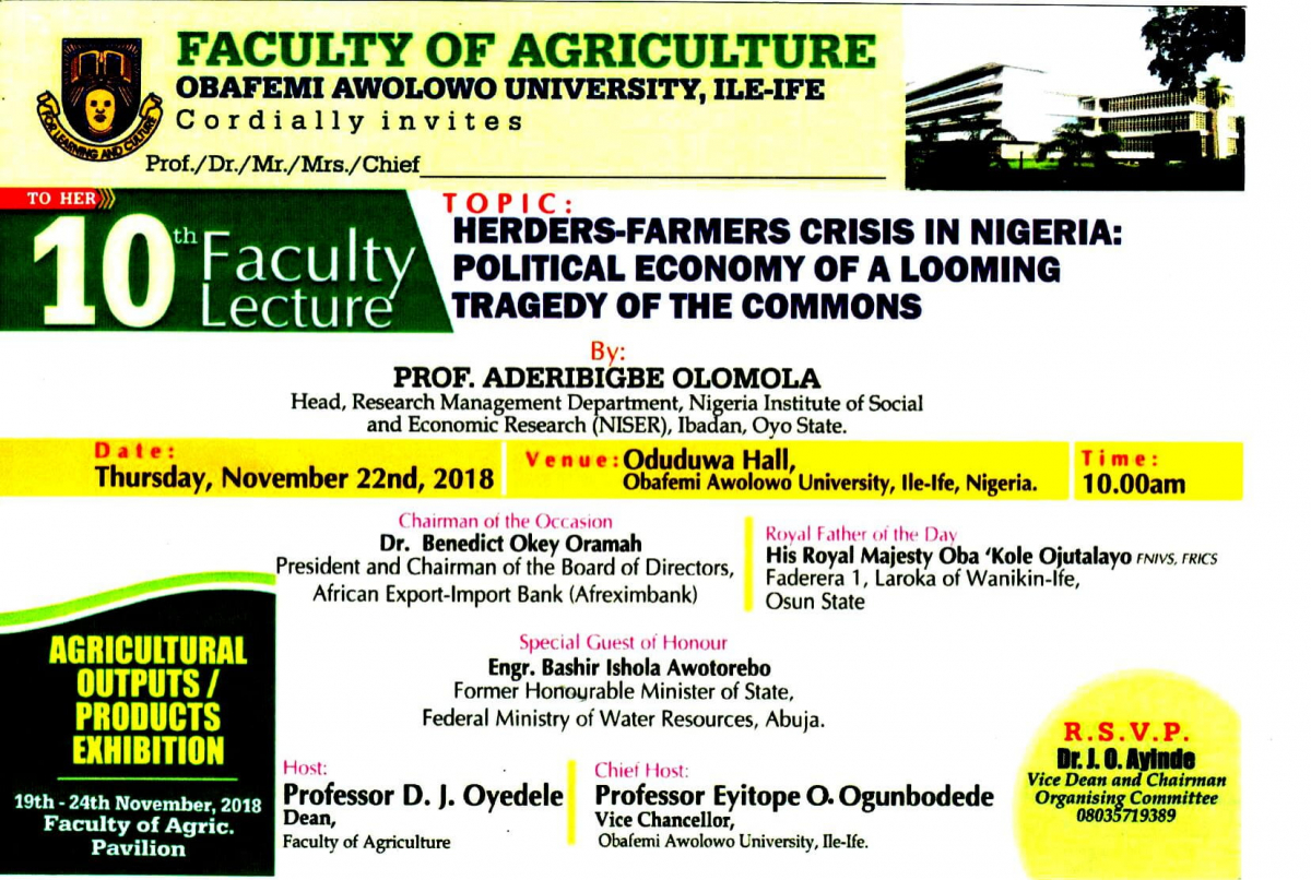 Herders-Farmers Crisis in Nigeria: Political Economy of a Looming Tragedy of the Commons